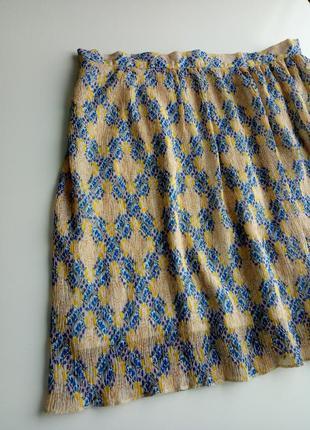Летняя юбка мини гофре