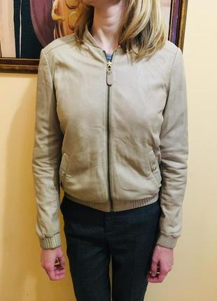 Кожанная куртка massimo dutti