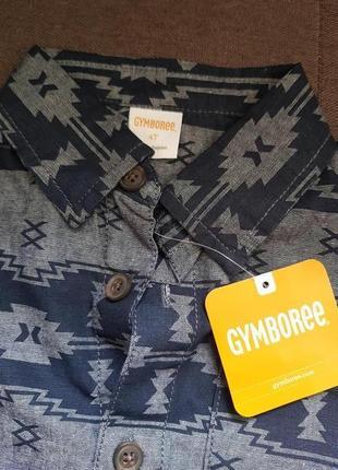 Рубашка на мальчика с этно принтом, возраст 4 лет, gymboree