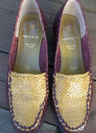 Bruno magli плетенные туфли