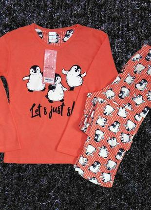 Пижама женская одежда для дома с пигвинами