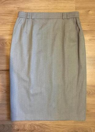 Гладкая шерстяная юбка карандаш,100%шерсть!