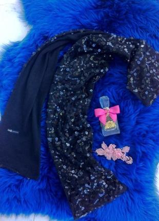 Длинный шарф с паетками. шарфик. палантин. платок. oodji
