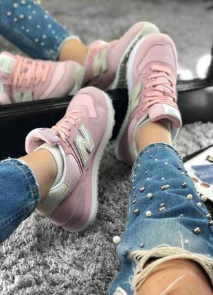 Милейшие женские кроссовки new balance 574 pink (36 37 38 39 40 41 рр. cf8c923ee470c