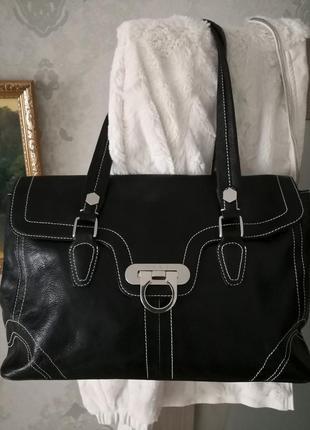 Шикарная кожаная сумка next