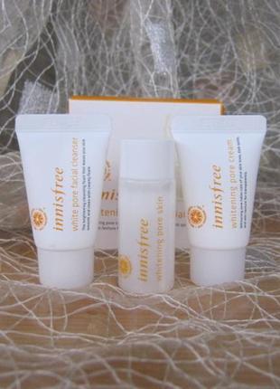 Отбеливающая серия - whitening pore special kit innisfree