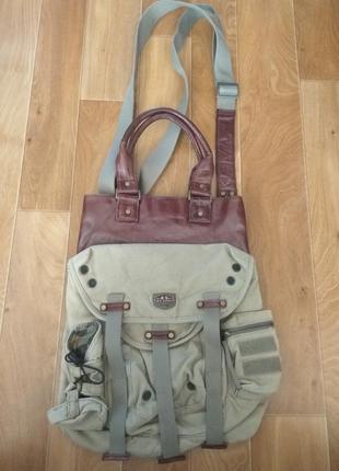 Крутая стильная  сумка diesel спортивная милитари.