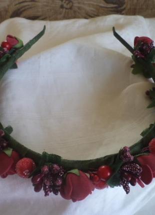 Супер ободок с цветами и ягодами
