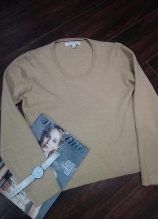 Классный базовый 100%шерсть меринос джемпер свитер
