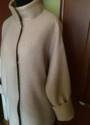 Пальто oversize шерсть италия