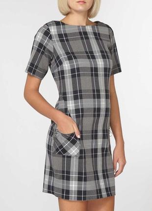 Классическое платье футляр в клетку dorothy perkins