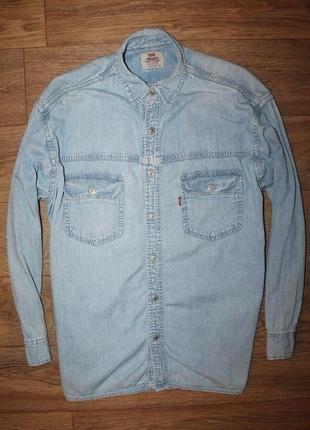Оригинальная , джинсовая рубашка levis vintage denim shirt м размер