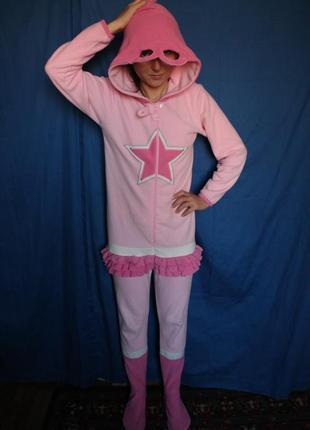 Пижама кигуруми супердевочка supergirl, на рост до 152 см, на 11-12 лет