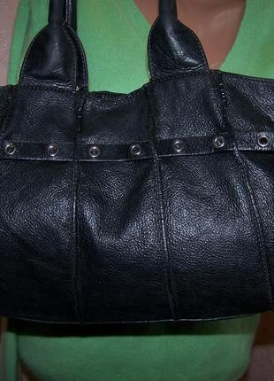 Черная сумка coccinelle 100%кожа