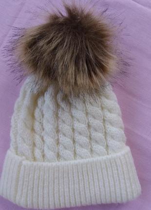 Теплая шапочка для девочки