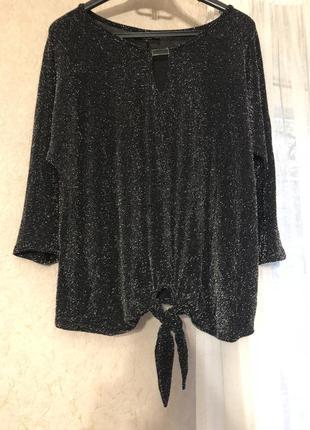 Серебристый свитер с завязками wallis