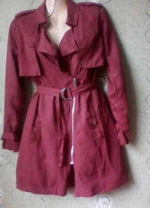 Тренч плащ пальто,бренд vero moda,100%лиоцел.
