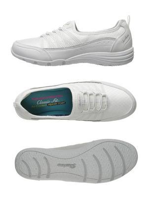 Skechers (26 и 26,5см). кроссовки, мокасины, спотивные туфли. белые. текстильные. оригинал