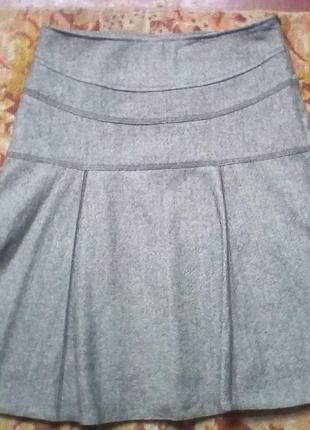 Yessica тёплая юбка 50% шерсть.