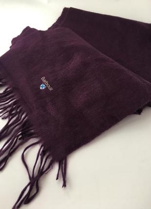Люксовый тёплый брендовый шерстяной шарф, натуральная  шерсть, barbour