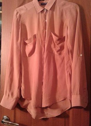 Шелк 100% рубашка-блузка