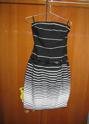 """Крутое платье с поясом 42 размера тм """"la&b&la"""""""