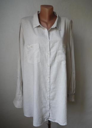 Льняная рубашка лен+вискоза