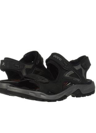 Ecco (стелька 31см). мужские кожаные сандалии. оригинал из сша. екко.  черные.