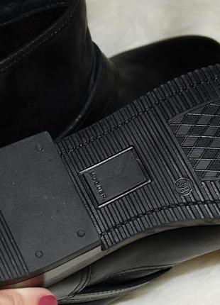Ботинки кожа кожаные черные zign 37-38 р-р 24.2 см стелька5