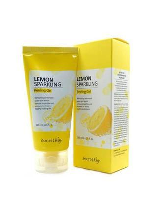 Корейская пилинг-скатка secret key lemon sparkling peeling gel
