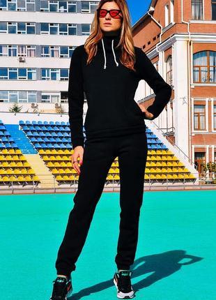 0078 черный спортивный костюм на флисе4