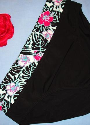Низ от купальника раздельного трусики женские плавки размер 50 / 16 с отворотом черные