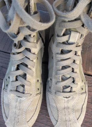 Демисезонные, высокие ботинки esprit 38