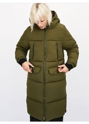 Оливкова куртка пальто zara♥️