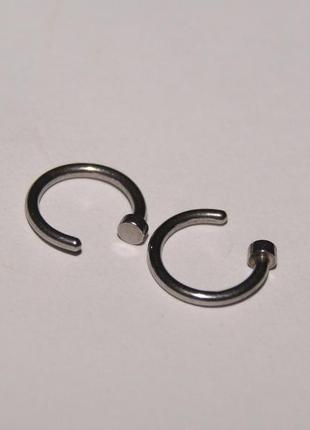 Пирсинг кольцо в нос с фиксатором 6 мм