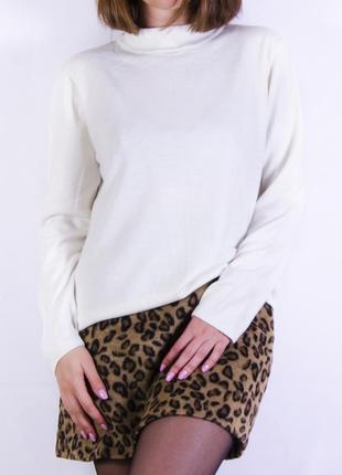 Махровая мини юбка, юбка-трапеция с леопардовым принтом atmosphere