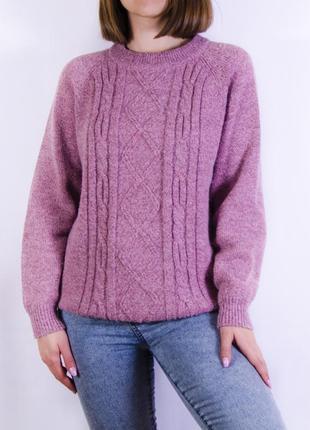Объемный свитер с узром, джемпер унисекс tj collection