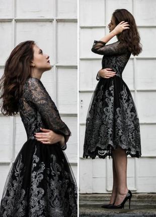 Шикарная кружевная юбка chi chi london dresses(размер 10)