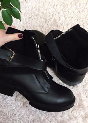 Зимние ботинки натуральная кожа 36 37 38 39 40