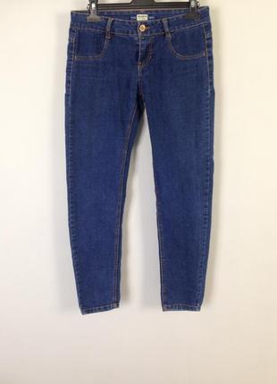 Якісні темно-сині джинси pull and bear1 фото