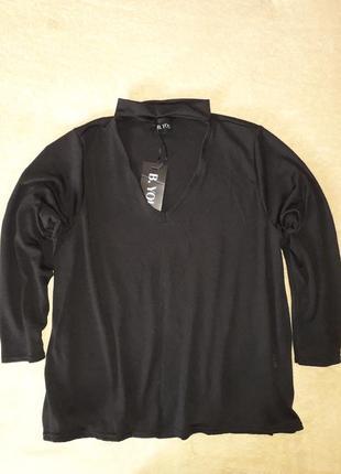 Кофта, блуза с чокером, черная