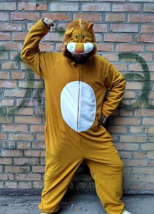 Пижама кигуруми лев, бренд cedarwood state, размер s, на рост до 172 см