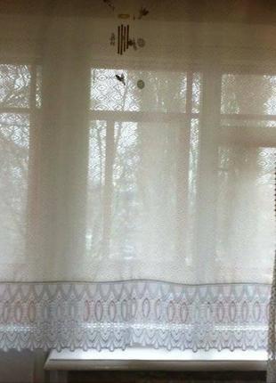Белая полупрозрачная штора. шторы. шторка. портьера. портьеры. гардина. занавеска.2