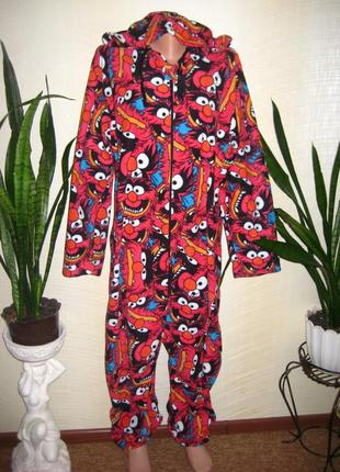 Прикольный слип человечек пижама кигуруми большой размер xl унисекс на высокий рост