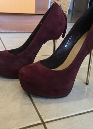 Замшевые туфли blue-tempt