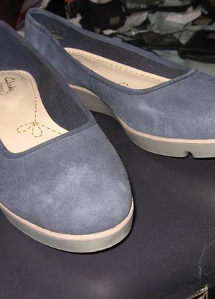 Туфли кеды балетки мокасины clarks замша оригинал новые размер 38 по стельке 24.5 см