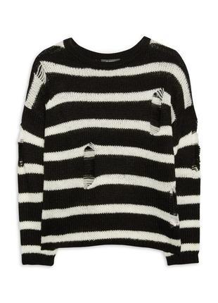 Трендовый оверсайз свитер с дырками primark
