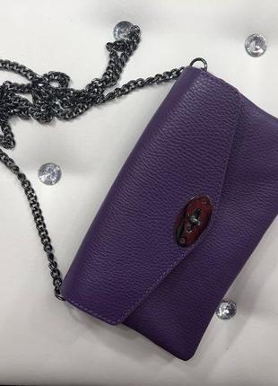 Мягкая кожаная сумочка (италия)