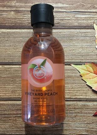 Гель для душа the body shop vineyard peach (персик)