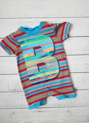 Хлопковый песочник-бодик baker, для мальчика 0-3 месяцев.  62 рост.